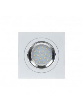 Oprawa LED kwadrat 3w1 3,5W GU10 biały matowy Tris
