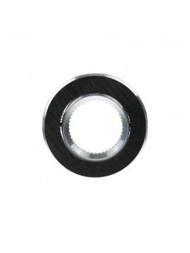 Oprawa GU10 duża okrągła czarna szczotkowana Tris