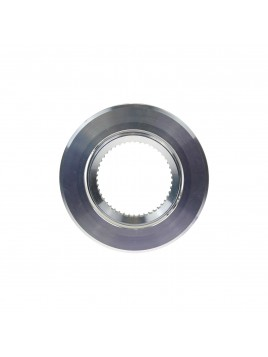 Oprawa GU10 duża okrągła srebrna polerowana Tris