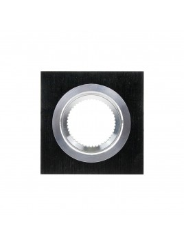 Oprawa GU10 kwadratowa czarna szczotkowana Tris