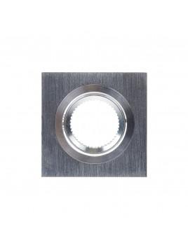 Oprawa GU10 kwadratowa srebrna szczotkowana Tris
