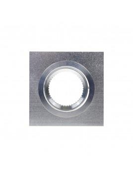 Oprawa GU10 kwadratowa srebrna piaskowana Tris