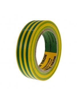 Taśma izolacyjna PCV żółto-zielona 15x10 NT5BX Nowa-Plus
