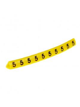 Oznacznik kablowy OZ-1 cyfra 5 żółty (100 szt.) Ergom