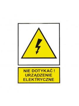 Tabliczka ostrzegawcza samoprzylepna N.D.U.E. TZO 74x105 Ergom