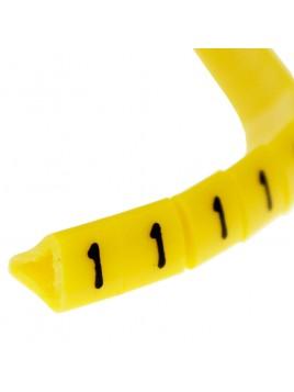 Oznacznik kablowy OZ-1 cyfra 1 żółty (100 szt.) Ergom