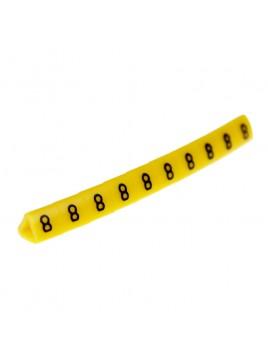 Oznacznik kablowy OZ-1 cyfra 8 żółty (100 szt.) Ergom