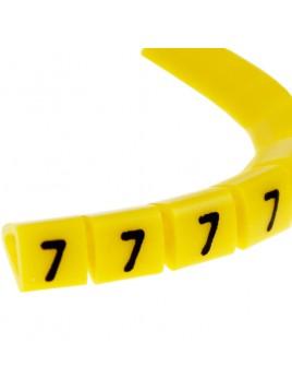 Oznacznik kablowy OZ-1 cyfra 7 żółty (100 szt.) Ergom