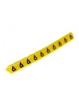 Oznacznik kablowy OZ-1 cyfra 6 żółty (100 szt.) Ergom