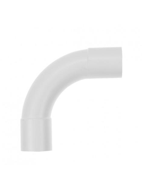 Złączka kątowa 90 stopni kielichowa do rur PVC 47 biała