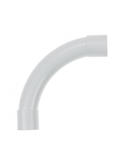 Złączka kątowa 90 stopni kielichowa do rur PVC 28 biała