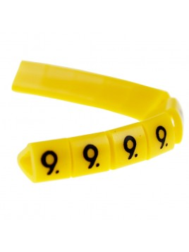 Oznacznik kablowy OZ-1 cyfra 9 żółty (100 szt.) Ergom
