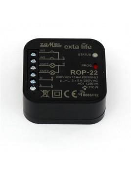 Radiowy odbiornik dopuszkowy 2-kanałowy ROP-22 EXTA LIFE ZAMEL