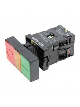 Przycisk sterowniczy 2-klawiszowy 0-1 czerwony zielony z podświetleniem LED 230V fi 22 MBZ6-EW8365
