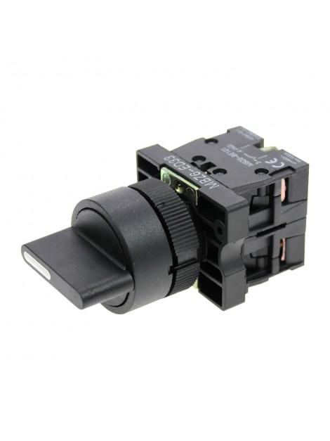 Łącznik sterowniczy piórkowy pokrętny 3-położeniowy 1-0-2 czarny fi 22 MBZ6-ED33 Next