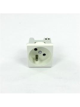Gniazdo pojedyncze z uziemieniem 45mm K02/9 białe CONNECT Kontakt-Simon