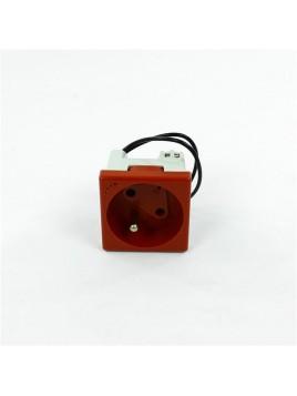 Gniazdo DATA + klucz 45mm KLS02/6 z sygnalizacją napięcia czerwone CONNECT Kontakt-Simon