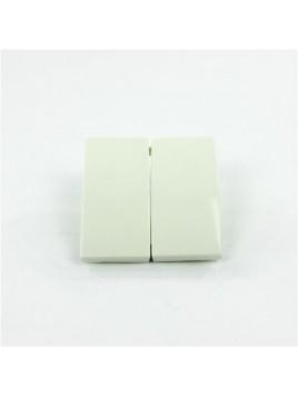 Klawisz podwójny biały B.KWADRAT ONE.PLATFORM 5316238999 Berker