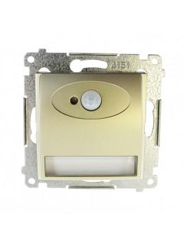 Oprawa schodowa LED z czujnikiem ruchu 230V złoty mat DOSC.01/44 Kontakt Simon54