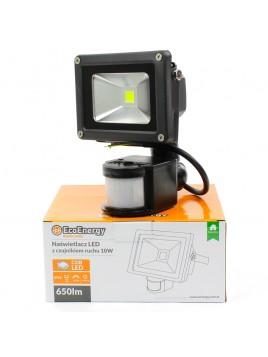 Oprawa naświetlacz LED COB 10W z czujnikiem ruchu PIR Ecolux