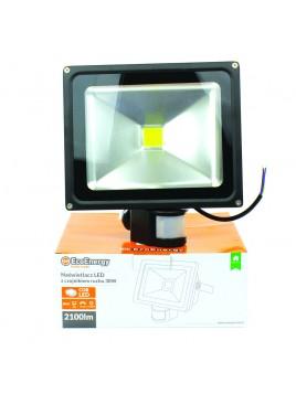 Oprawa naświetlacz LED COB 30W z czujnikiem ruchu Ecolux projektor