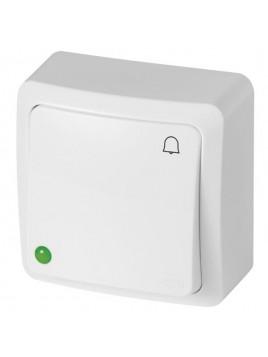 Przycisk n/t dzwonek IP20 biały 3714-00 BERG Elektro-Plast Nasielsk