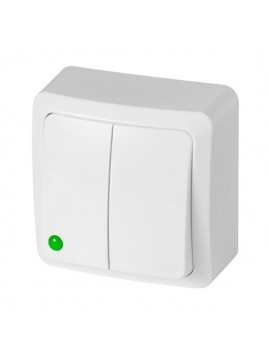Łącznik n/t podwójny IP20 biały 3711-00 BERG Elektro-Plast Nasielsk