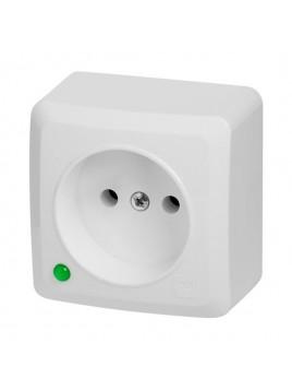 Gniazdo n/t pojedyncze bez uziemienia IP20 białe 3740-00 BERG Elektro-Plast Nasielsk