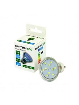 Żarówka LED 5W GU10 6500K 230V szklana Lightech