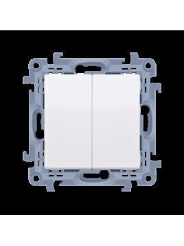 Przycisk zwierny podwójny CP2.01/11 biały Kontakt Simon10