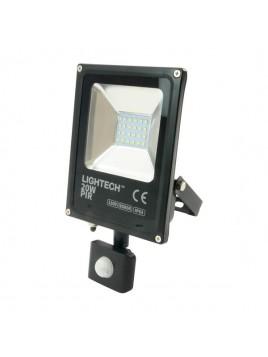 Oprawa LED naświetlacz SMD 20W 6500K czujnik ruchu PIR czarny Lightech