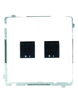 Gniazdo komputerowe podwójne białe BM62.01/11 Kontakt-Simon Basic