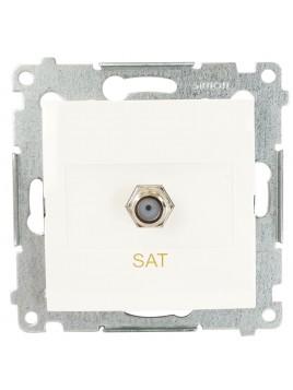 Gniazdo TV typu F pojedyncze SAT białe DASF1.01/11 Kontakt Simon54