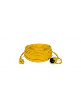 Przedłużacz 1-gniazdowy żółty 3x2,5 20m IP44 HEAVY PJ-HEAVY/Z  W-97126 KEL Plast-Rol